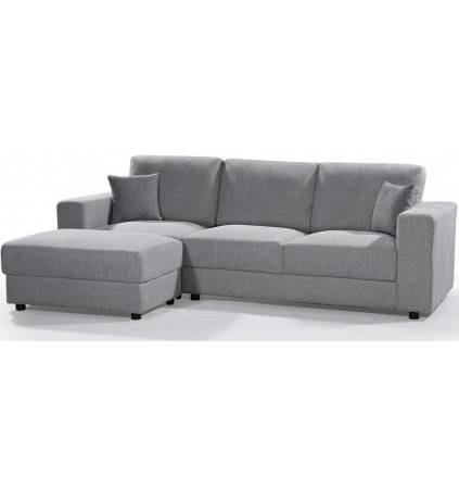 Ashley Chaise Sofa with Moveable Ottoman