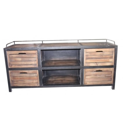 Iron and Timber TV Cabinet 170cm