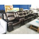 Eastern Full Motion Suite Covered in Air Leather