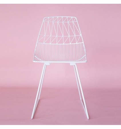 Dining Chair in Industrial Wire Metal (2 Pcs)