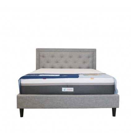 Downtown Upholsted Bed with Posture Slat Base