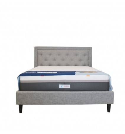 Downtown King Size Upholsted Bed with Posture Slat Base