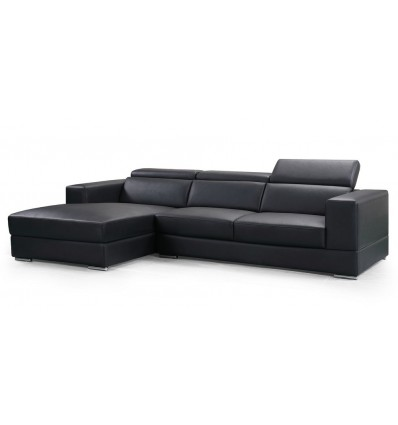 Adelaide 3 Seater Chaise Sofa - Air Leather