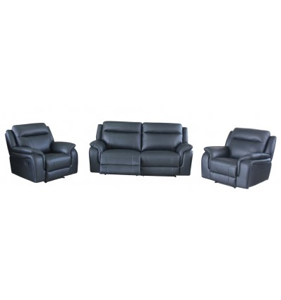 Errol Full Motion Suite with Recliners in Leather