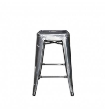 Tolix Stool 60cm (Reproduction) Transparent Finish