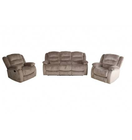 Alison Recliner Suite Full Motion Suite covered in Aire Leather
