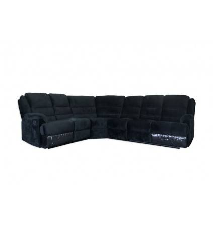 Ella Corner 6 Seater with Recliners in Fabric