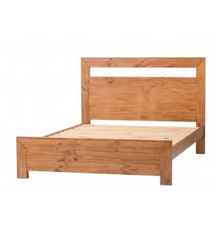 Queen Rustic Bed with Slats