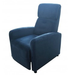 Pushback simple recliner, full fabric
